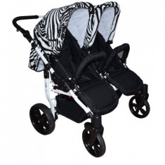Carucior gemeni 2 in 1 Zebra PJ Stroller