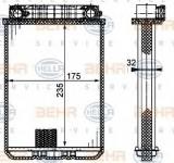 Radiator incalzire interior MERCEDES CLK (C209) (2002 - 2009) HELLA 8FH 351 311-181