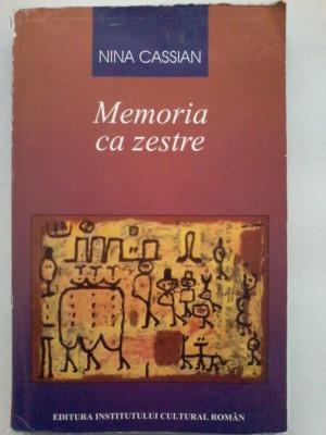 Nina Cassian - Memoria ca zestre (3 vol.) foto