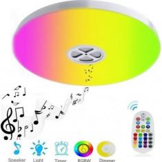 Plafoniera inteligenta de tavan Widjit HM-CLIR, 24W, lumina calda, Bluetooth cu control prin telecomanda sau aplicatie (Alb)