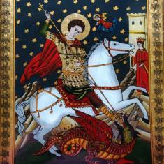 Icoanã pe sticlã - Sfântul Gheorghe
