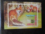 Bloc timbre fauna animale vulpi nestampilat Guinea Ecuatoriala timbre postale