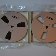 Set banda magnetofon logo Akai -18cm,metal 540m ptr.Teac.grundig,reVox