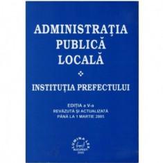 Administratia publica locala - Institutia prefectului