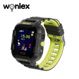 Ceas Smartwatch Pentru Copii Wonlex KT03 cu Functie Telefon, Localizare GPS, Camera, Pedometru, SOS, IP67 - Negru - Verde Lamaie