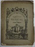 ALMANAH MUSICAL de TEODOR T. BURADA , ANUL III , 1877