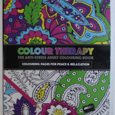 COLOUR THERAPY - THE ANTI - STRESS ADULT COLOURING BOOK