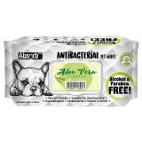 Absorbant Plus Antibacterian Pet Wipes Aloe Vera, 80 bucati