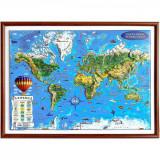 Harta Lumii pentru copii Eurodidactica 3D