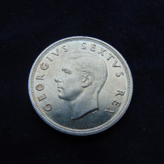 Moneda argint 5 schilling 1952