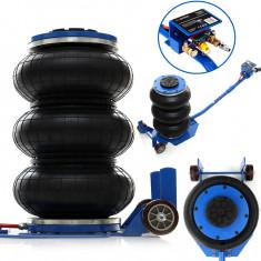Cric pneumatic Tagred TA290 cu perna de aer tip burduf cu supapa de siguranta, capacitatea 6 tone, inaltime maxima ridicare 40 cm