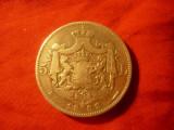 Moneda 5 lei 1883 Carol I , argint cal. f.buna ,6 stele
