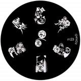 Şablon ştampile unghii m23 - diverse modele