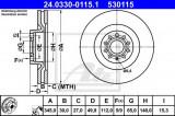 Disc frana SEAT LEON (1P1) (2005 - 2012) ATE 24.0330-0115.1