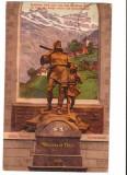 CPIB 16708 CARTE POSTALA - ZURICH. WILHELM TELL. PHOTOGLOB, 1911, Elvetia, Circulata, Fotografie