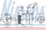 Compresor clima / aer conditionat MERCEDES E-CLASS (W210) (1995 - 2003) NISSENS 89022