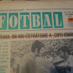 Revista Fotbal nr.267/7 iulie 1971-Steaua din nou castigatoare a Cupei Romaniei