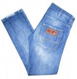 "Blugi Barbati Jeans WRANGLER ""SPENCER"" - MARIME: W31 L32 - (Talie = 85 CM), 31, Albastru, Lungi"