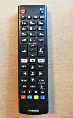 Telecomanda LCD LED cu Netflix LG AKB75095308 LJ610V LJ614V UJ630V UJ634V UJ6309 foto