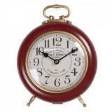 Cumpara ieftin Ceas de masa din metal visiniu auriu 28 cm x 21 cm x 10 h