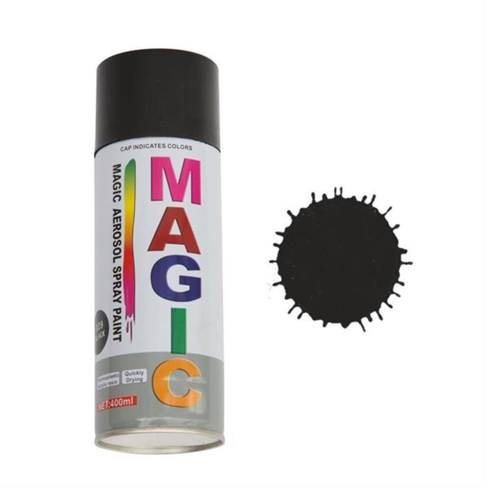 Spray vopsea negru lucios 400 ml 9475