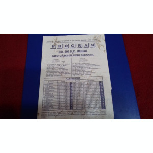 program   FC  Bihor  -   Aro C-lung  M.