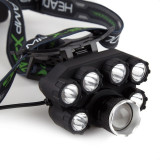 Lanterna De Cap Premium Cu 7 Led XT6 CREE , 2 Acumulatori 3,7V inclusi