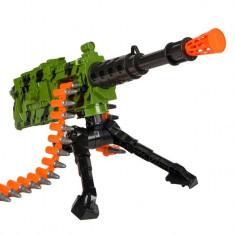 Arma interactiva de jucarie pentru copii, model mitraliera automata cu suport, 74x10x35 cm