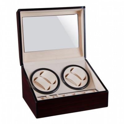 Cutie caseta Pufo Premium de prezentare si de intors ceasuri automatice, 4 + 6 locuri foto
