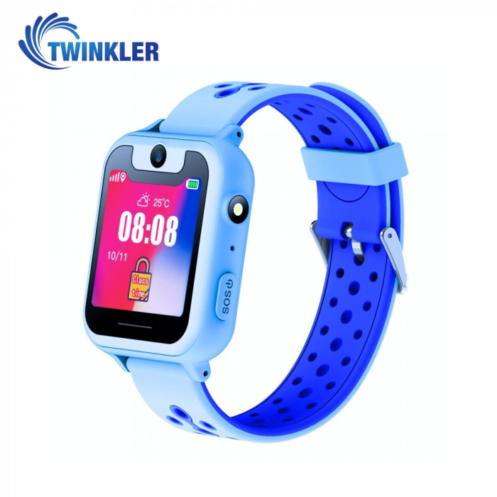 Ceas Smartwatch Pentru Copii Twinkler TKY-S6 cu Functie Telefon, Localizare GPS, Camera, Lanterna, Pedometru, SOS - Albastru