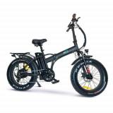Bicicleta electrica E-TWOW GE Fat Bike V2 Clasic, Autonomie 50km, Viteza maxima 25 Km/h, motor 250W, roti 20inch, cauciuc offroad, Far LED, port USB,