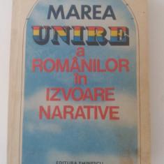 MAREA UNIRE A ROMANILOR IN IZVOARE NARATIVE