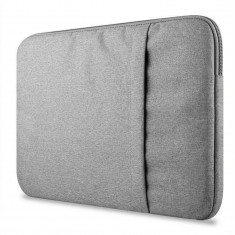 Husa Upzz Tech Protect Sleeve Pentru Laptop 13-14 Inch ,macbook Pro 13 Inch , Gri Deschis