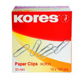 Agrafe Birou Metalice Kores, 33 mm