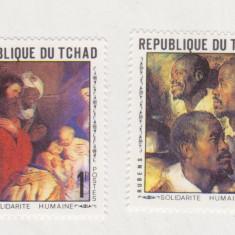 TCHAD PICTURA  RUBENS,  2V. NESTAMPILATE ,MNH