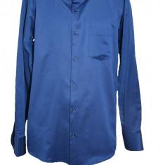 Camasa barbateasca uni cu maneca lunga,nuanta bleumarin