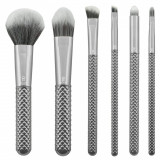 Set pensule profesionale Royal Langnickel MODA Metallics Total Face Flip Kit, 7 piese, Silver