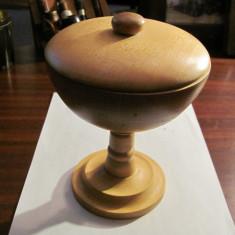 CY - Cupa / Recipient din lemn foarte frumoasa / impecabila