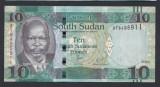 A3025 South Sudan Sudanul De Sud 10 pounds 2016 UNC