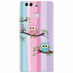 Husa silicon pentru Huawei P9, Cute Owl
