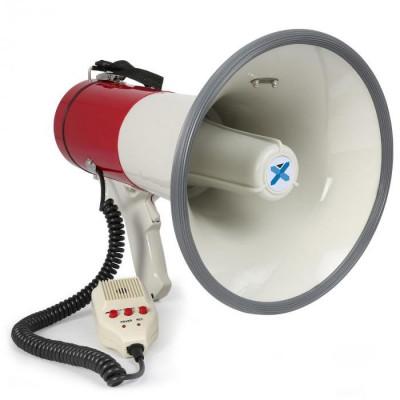 Vexus MEG050 megafon 50W cu sirena, înregistrări Microfon cu baterie si curea. foto