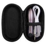 Glont Vibrator Travel Gasm, Gri Metalizat, 9 cm