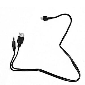 Cablu mini usb la jack 3.5mm tata + usb 2.0 tata, 50cm, negru