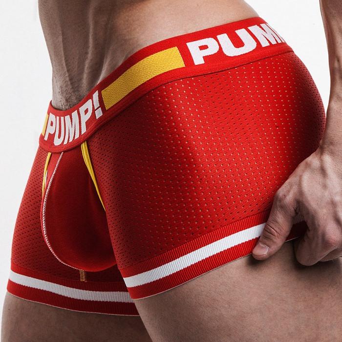 Boxeri PUMP material mesh - culoare rosu - doar marimea M
