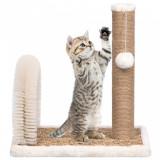 Ansamblu pisici, perie arcuită de îngrijire & stâlp de zgâriat, vidaXL