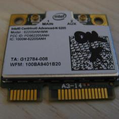 Placa wireless laptop Fujitsu Lifebook S751, Intel Advanced-N 6205, G12784-011