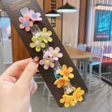Cumpara ieftin Set de 10 elastice pentru par - Flowers