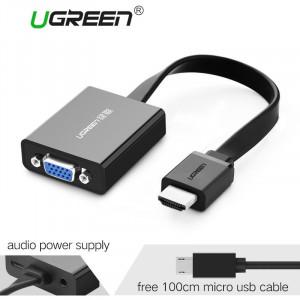 Convertor activ UGREEN video-audio HDMI la VGA  PC HDTV 1080P nou