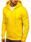 Cumpara ieftin Hanorac cu fermoar galben bărbați Bolf 2008