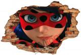 "Sticker ""Wall Crack"" Ladybug 4 - 120 x 80 cm"